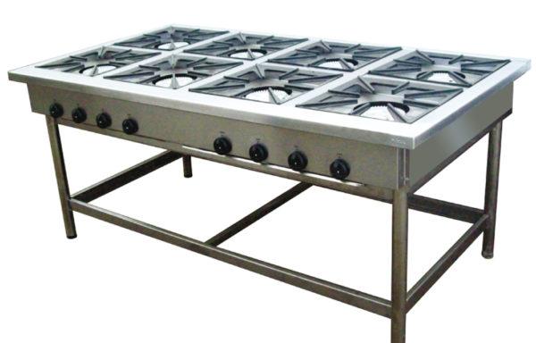 Anafe Industrial 8 platos 430×430 mm.