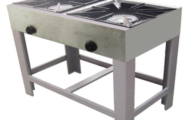 Anafe industrial 2 platos alto 430×430 mm.