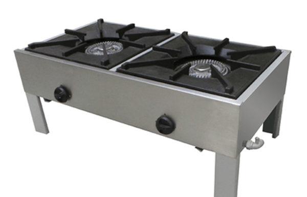 Anafe industrial 2 platos bajos 430 x 430 mm.