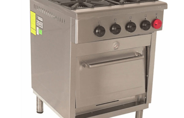 Cocina Industrial 4 platos 1 horno.