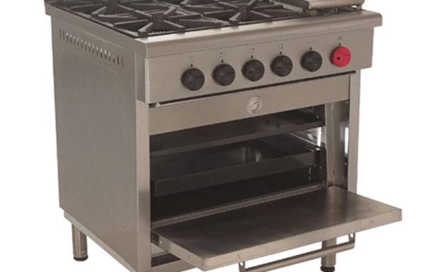 Cocina Industrial 4 platos 1 horno + plancha churrasquera