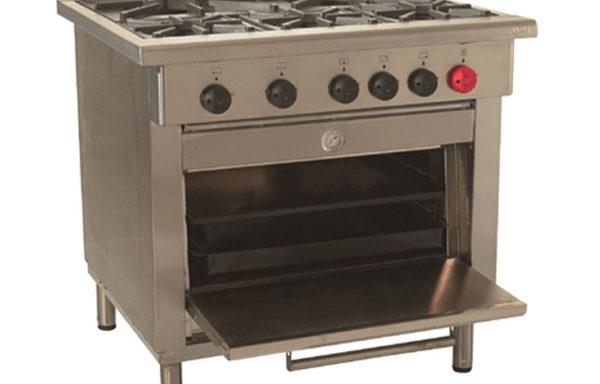 Cocina Industrial 5 platos 1 horno.