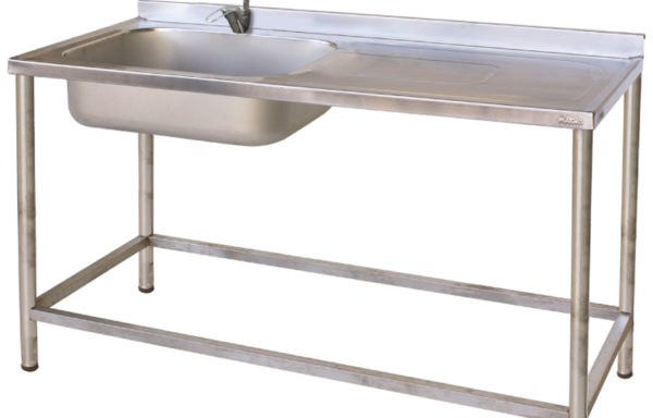 Lavaplato 1 taza 1 secador derecho 1200 mm.