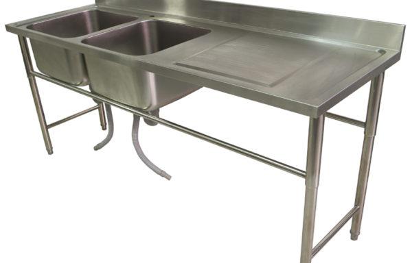 Lavafondo 2 tazas 1 secador derecho 2000 mm.