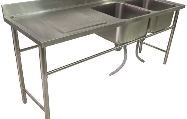 Lavafondo 2 tazas 1 secador izquierdo 2000 mm.