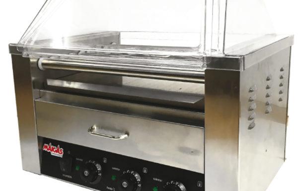 Parrilla Hot Dog 9 roller más calentador de pan.