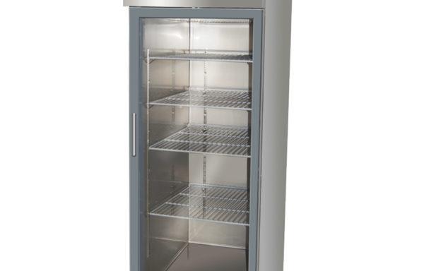Refrigerador vertical 500 Lts. 1 puerta de vidrio.