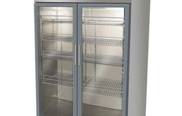 Refrigerador vertical 1000 Lts. 2 puertas de vidrio.