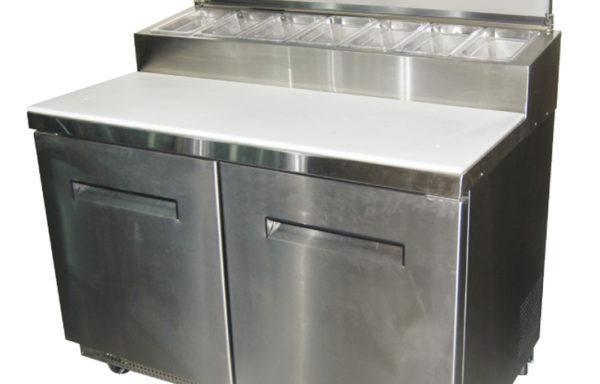 Mesa de preparación de pizzas 335 Lts. 7 dep. GN 1/6