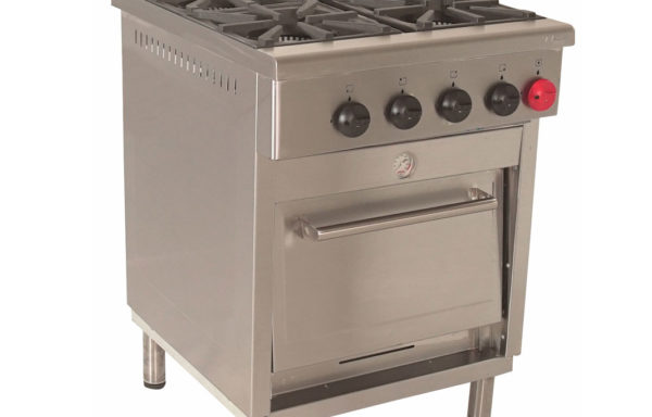 Cocina Industrial 4 platos – 1 horno